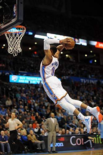 GZSGWLI Russell Westbrook Oklahoma City Thunder OKC Basketball NBA Poster jjhz0610 Home Decoration Poster 24'x36'inch(60cmx90cm)