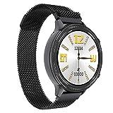 HQPCAHL Smartwatch, Reloj Inteligente Impermeable IP67 para Mujer, Pulsera De Actividad Inteligente con Monitor De Sueño Contador De Caloría Pulsómetros Podómetro para Android iOS,Negro