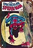 YASMINE HANCOCK The Spectacular Spiderman # Comic Metal Plaque Tin Sign Poster Plaque de métal Signe Mur Art Affiche Club Bar décoration