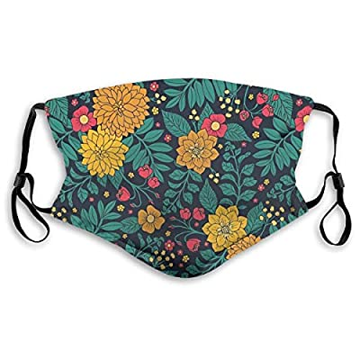 Ybdlho Fashion Printed Leaves and Flowers Dust with Filter Element Anti-Dust,Repeatable,Protective Filter