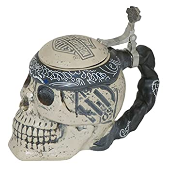 Harley-Davidson Bar & Shield Sculpted Ceramic Skull Stein 24 oz HDL-18606