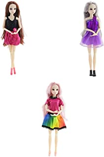 T TOOYFUL BJDドール モデルさん人形 20関節 人形服付き 着替えゲーム 女の子 ごっこ遊び プレゼント 3個入り