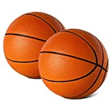 "Botabee 5"" Foam Mini Basketball for SKLZ Pro Mini Basketball Hoop, 2 Pack | Safe & Quiet Small Basketball for Over The Door Mini Hoop Basketball Sets"