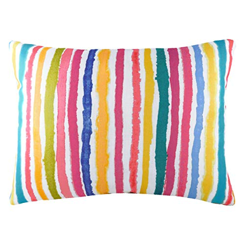 Evans Lichfield Aquarelle Stripe Feather Filled Cushion, Multi, 43 x 33cm