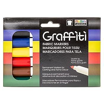 Uchida Of America 560-6A Graffiti Fabric Marker Primary Colors