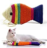 Pet Believe Sisal Rope Cat Scratch Board Scratching Pad Play Funny Toy Fish