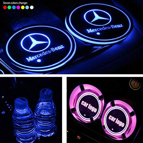 Fleur de Laurier xiaobobo 3 PCS Union Jack Car Cup Caf/é Coussin De Stockage Groove Coaster Auto Antid/érapant Tapis Pad pour Mini Cooper Clubman F55 F56 Accessoires