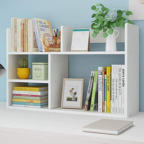 XHCP Small Bookshelf and Bookcase 5-Cube Shelves Organizer with Drawers for CDs, Records, Books, Home Office Decor Book Storage.