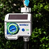 Solar Powered Tap Timer, White, Irrigation tap Timer