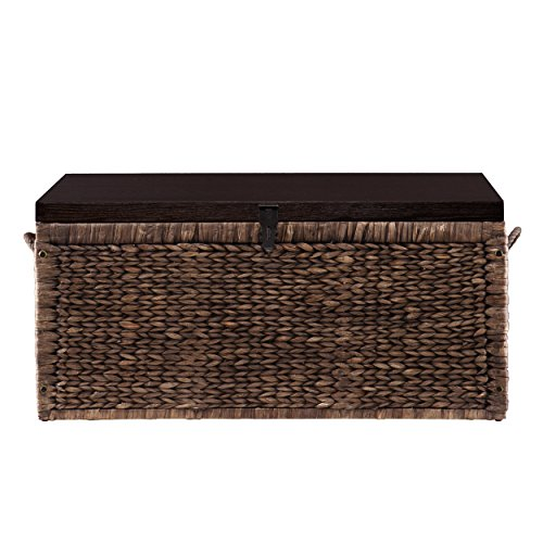 Water Hyacinth Storage Trunk - Blackwashed w/ Espresso