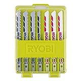 Ryobi 5132002702 Surtido de 10 hojas de Sierra de Calar