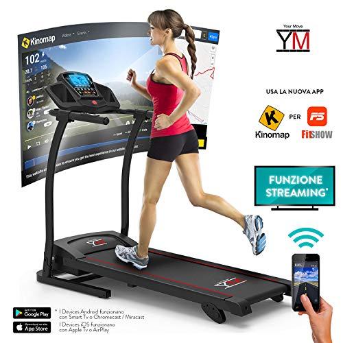 Hardloopband, elektrische opvouwbare sensor, hartslagfrequentie, cardio-speler, MP3 luidspreker, 1500 W (3,5 HP Picco) bluetooth-app ifitshow standaard universeel voor tablet, smartphone, iPad en iPhone