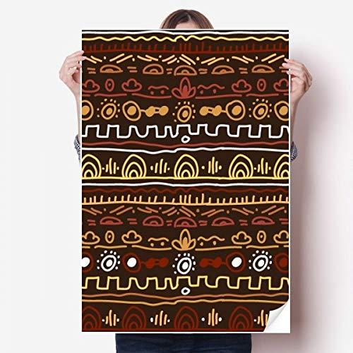 DIYthinker Afrique Primitive Style Tribal autochtone de Mur de Vinyle Autocollant Mural Papier Peint Chambre Poster Decal 80X55Cm 80cm x 55cm Multicolor