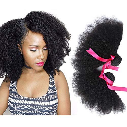 FDRYO 3 Bundles Cheveux Courts Bouclés Cheveux Humains Moelleux 8~20 Pouces Les Cheveux Naturels Tissent Soyeux,10/12/14inch