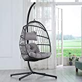 Brafab Swing Egg Chair, Hammock Chair, Hanging Chair,Aluminum Frame and UV Resistant Cushion with...