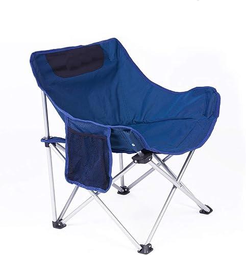 Chaise Pliante d'extérieur, siège de pêche léger et Portable, utilisé pour Les barbecues de Camping, etc. LJJOZ (Couleur   bleu)