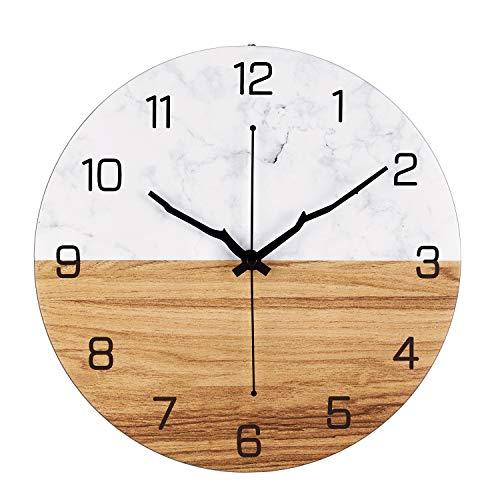 Metal Reloj de Pared, 30cm Reloj Pared Grande, Relojes de Pared Vintage de Cuarzo Silencioso Decoración Pared para Cocina, Salon, Oficina, Dormitorio, Oficina, Funciona con Pilas, Regalos para La Casa