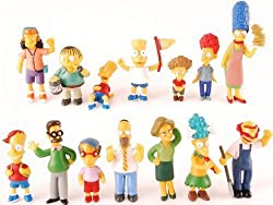 Image: The Simpsons 14 Piece Figure Set Featuring Homer Simpson, Bart Simpson, Ned Flanders, Marge Simpson, Milhouse, Rod Flanders, Todd Flanders, Otto Mann, Ralph Wiggum, Groundskeeper Willie, Mrs. Krabopple, and Sideshow Mel