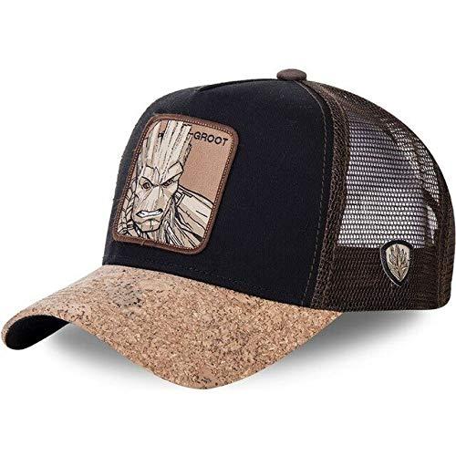 Nueva Gorra de bisbol de algodn Snapback para Hombres y Mujeres, Gorra de Camionero de Hip Hop para pap-MIE BA Brown