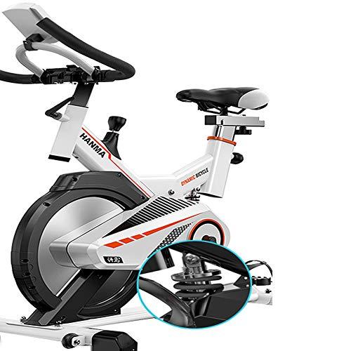 JUYHTY hometrainer, draaibaar, elektronisch, verstelbaar, 6 sleuven, met pedaal van aluminiumlegering, met vering, geschikt voor fitness, afmetingen: 975 x 500 x 1050 mm