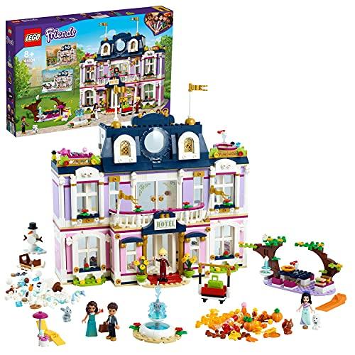 LEGO 41684 Friends Gran Hotel de Heartlake City, Juguete de Construcción para Niños y Niñas +8 Años, Casa de Muñecas