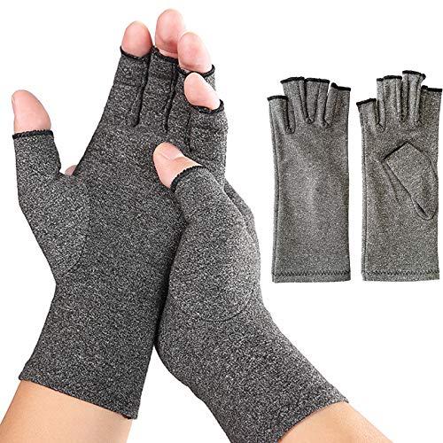 Arthrose Handschuhe 1 Paar   Kompressionshandschuhe Damen zur Linderung von Schmerzen durch Arthritis und Rheuma in 3 verschiedenen Größen (L)