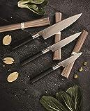 Kai 67-W18 Wasabi Black Couteau en acier inoxydable Noir