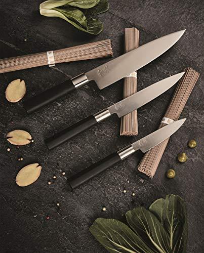 Kai 67-W18 Wasabi Black - Juego de cuchillos (acero inoxidable), color negro