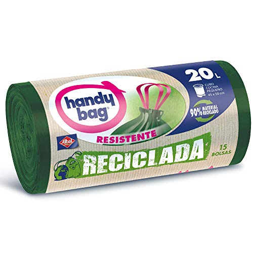 Handy Bag Albal Recycled Garbage Bags Bolsas de Basura Reciclada 20 litros