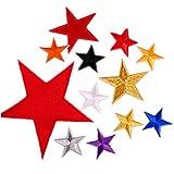 13 parches bordados de tamaño 5 estrellas, para planchar o coser en parches para ropa, varios colores