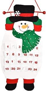 Coolcycling Christmas Advent Calendar Christmas Felt 3D Hanging Advent Calendar Countdown Wall Calendars for Indoor Christmas Decorations