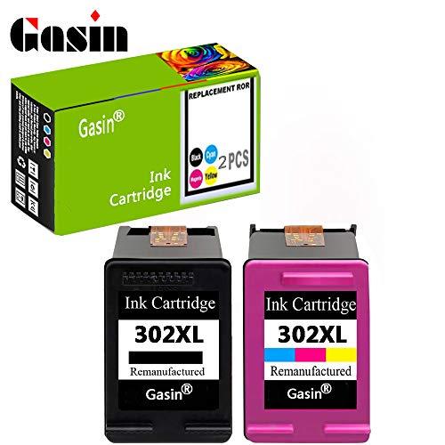 GASIN Cartucho de tinta remanufacturado para HP 302 xl (1Black y 1Tri-color) Compatible con Envy 4524 4522 4523 4520 Officejet 3830 Deskjet 3630 Impresora