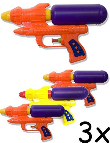 HomeTools.eu® - 3X Wasser-Pistole, Spritz-Pistole, Bade-Pistole mit Wasser-Tank, Bade-Spass,Strand-Spielzeug, 3er Set