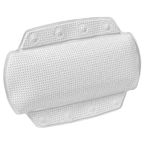 Spirella Badewannenkissen Alaska Weiß mit 8 Saugnäpfen antibakteriell, rutschhemmend 23 x 32 cm waschbar, Made in Germany