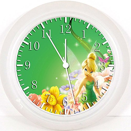 Pequeñas hadas notebookbits Tinkerbell reloj de pared 25,4 cm será de habitaciones y...