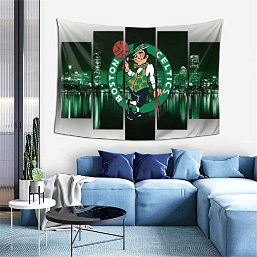 JohnSStills Rooms Boston Basketball Cel-tics Decorative Blankets, Family Wall hangings, Dormitory Party Decoration Tapestries, Table Cloths, Picnic Cloths, Porch Hanging 6040 inches