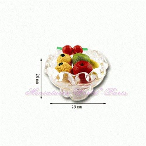 Miniatures World - Glazen fruitschaal voor miniatuurdecors en poppenhuizen in schaal 1:12