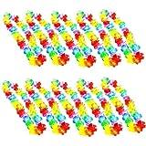 JZK 10 x Multiuse Fleur Garland hawaïen lei Garland Collier Bracelet pour fête hawaïenne / Plage fête / été à thème BBQ Fournitures de fête décorations Accessoires