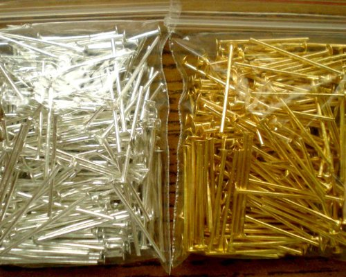 """Price comparison product image 400pcs Mix Silver / Gold Plated Head Pins 3 / 4"""" 21ga ~Jewelry Findings"""