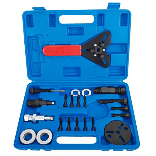 KUNTEC 21Pcs A/C Clutch Removal & Installation Holding Tool Kit