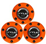 Mylec Official Roller Hockey Game Puck, Orange, (Pack of 3)
