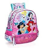 Zaino Asilo Principesse Disney Cenerentola Jasmine Biancaneve Ariel Scuola...