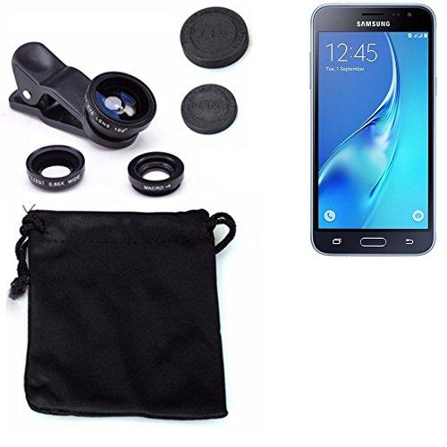 3in1 Samsung Galaxy J3 Duos (2016) Lenti FishEye (180°) Grandangolo (0.67x) Macro Obiettivi Smartphone Cellulare Obiettivi Smartphone- K-S-Trade