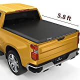 YITAMOTOR Soft Tri fold Truck Bed Tonneau Cover Compatible with 2019-2022 Chevy Silverado/ GMC Sierra 1500, Fleetside 5.8 ft Bed