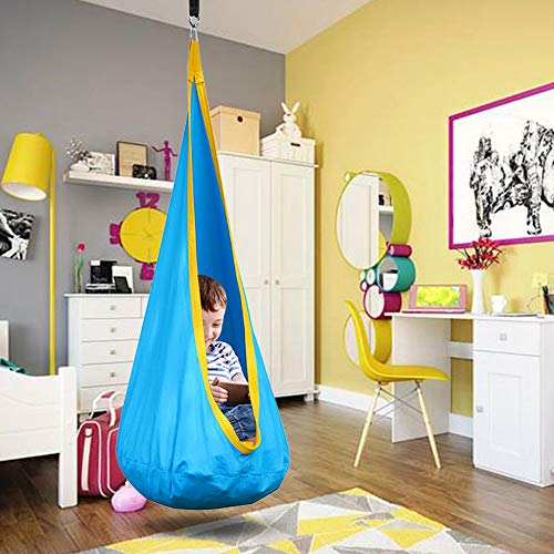 Taoup Pod Chair for Kids, 100% Cotton Kids Pod Swing Seat, Durable Hanging Hammock Chair with...