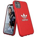 adidas Funda para teléfono Compatible con iPhone 11, Funda Protectora de Lona Moldeada, Color Rojo Escarlata
