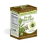 Lifestyle Awareness Pu-erh Slim Chai Tea with Uplifting Cardamom, Contains Caffeine, 20 Tea Bags,...
