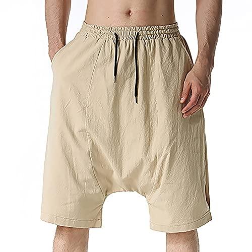 Mengove Color Sólido Pantalones Cortos Hombre Running Transpirable Shorts Deportivos Secado Rápido Pantalón Correr con Bolsillo
