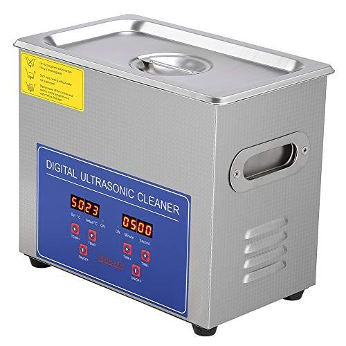 Digital 3L Ultraschallreinigungsgerät, Edelstahl Ultraschallreiniger mit Heizung Digitale Timer Ultraschall Reinigungsgerät für Brillen Schmuck Zahnprothesen Münzen usw (3L)