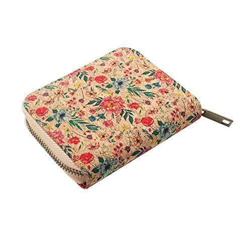 Veggees ® Veganes Portemonnaie aus Kork, Klein, Zero Waste, Münzfach, RFID-Schutz Geldbörse für Damen, Portmonee, nachhaltig